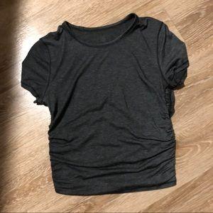 Grey lululemon short sleeve top